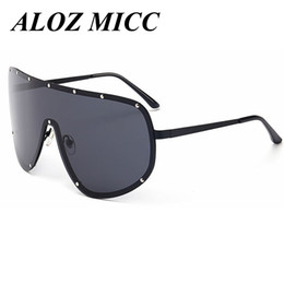 Wholesale super sun glasses - ALOZ MICC Super Big Frame Polarized Sunglasses Men Classic Trend Stars Wear Sun Glasses Women Large Frame Outdoor Sunglass Goggles A260