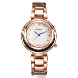 Wholesale Butterfly Process - New quartz watch round processing custom female models four color casual fashion bracelet table