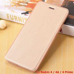 Wholesale Xiaomi Flip Cover - Redmi 4A Case High Quality Flip Leather Case for Xiaomi Redmi 4 Prime 4A Mobile Phone Pouch Cover Coque Skin Cheap Case Bag