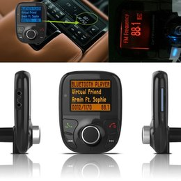 Wholesale Car Radio Sd Mmc - LCD Bluetooth Car MP3 Music Player Kit Auto Radio Audio Stereo Player Hands-free Wireless FM Transmitter Extend MP3 USB SD MMC CAU_30K