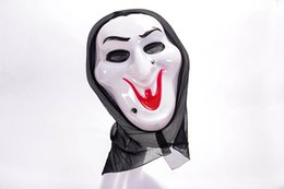 Wholesale Ghost Mask Toys - Hot Selling Super Scary Ghost Face Scream Mask Halloween mask Masquerade Latex Party Skull Ghost Scary Scream Mask Face Hood Toy