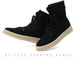 Wholesale Snowboots Men - Kanye West Season 2 Boots Cow Suede Leather Unisex Tactical Boots Men Army Boots Genuine Leather Outdoor SnowBoots Shoes