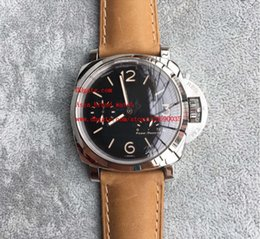 Wholesale Pam Power Reserve - Factory direct sale Luxury AAA Brand PAM 423 Black Dial 47mm Power Reserve PAM00423 Automatic PAM423 Mens Men's Watch Watches