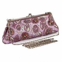 Wholesale Green Craft Buttons - 100% Hot Women's Evening Bag Acrylic Beads Clutch Bag Delicate Banquet Bag Party Purse Handmade Beaded Craft Handbag LI-1525