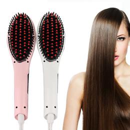 Wholesale Electronic Hair Straightener - Beautiful Star NASV Magic Hair Comb Straightener curlesr Straight Hair Styling Tool With LCD Electronic Temperature Control US EU AU UK PLUG