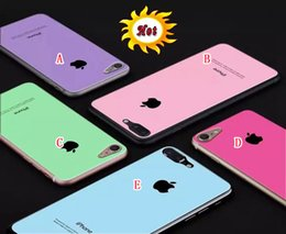 Wholesale Glittering Screen - Tempered Glass Premium Screen protector For Iphone 7 Plus I7 7PLUS Iphone7 Full body Apple Mirror Glitter Film Clear Skin Deluxe Package