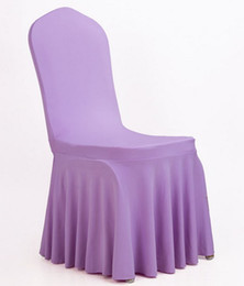 Wholesale Fold Chair Covers - chair covers cover for weddings Elastic Polyester Spandex white Chair Covers Universal Folding Hotel Meeting decorations accessories LLFA