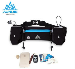 Wholesale Running Water Bottle Belt - Wholesale- AONIJIE Outdoor Sports Running Belt Bag With 2 Water Bottle Holder Phone Walking Running Waist Belt Packs