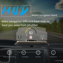 Wholesale Heading Navigation - HUD GPS navigation Mobile Head Up Display Bracket Holder Cell Phone Mount For iPhone 7 Plus Android Smartphone