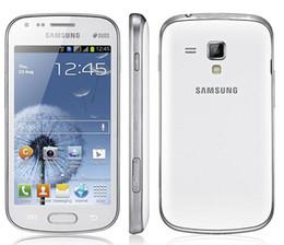 samsung duos telefone Rabatt Aufgerüsteter ursprünglicher Samsung-Galaxie-Trend Duos S7562i setzte Handy 4.0 Zoll TFT Schirm 4G ROM Android OS 3G frei