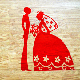 Wholesale Red Sticker Paper - Upscale Wedding Supplies Party wedding Decoration red Chinese style Paper cutting Window stickers cartoon character DIY home decor wholesale
