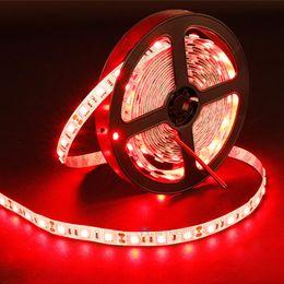 Wholesale 12v Lighting China - IP65 LED Flexible Strips DC12V 5050 2835 14.4W 60LEDs RGB Single Color Red Green Blue Waterproof Lights 100-240V Adapter Controller China