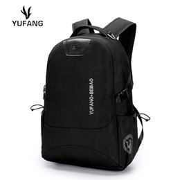 Wholesale Professional Schools - Wholesale- YUFANG Fashion Men Backpack School Bag Waterproof Oxford Professional Laptop Backpacks for Men Big capacityTravel Bags