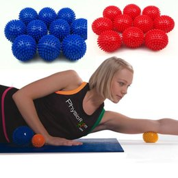 Wholesale Yoga Ball 75cm - 2017 New arrival High-quality 7cm PVC massage ball Yoga hand ball Barbed Fitness yoga products Environmentally non-toxic Wholesale