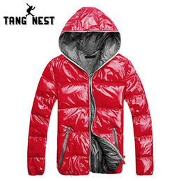 Wholesale Bright Design - Wholesale- TANGNEST 2017 New Arrival Fashion Hooded Lowest Price Parka New Design 5 Colors Bright Windproof Male Asian Size Coat MWM1503