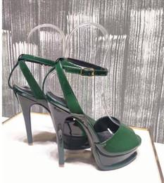 Wholesale Sandal Heels 3cm - Saint Famous New Club Women High Heel Sandals Patent Genuine Leather Sandals Dresses Pumps 3cm Platforms Summer Shoes Woman Sandals ML3777