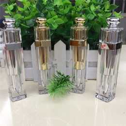 Wholesale Lipstick Containers Wholesale - Empty Clear Lip Gloss Lip Balm Bottle Lipstick Tubes Container Beauty Tool Mini Sample With Gold silver Cap F20171658