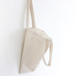 Wholesale Eco Reusable Shopping Bags Shoulder - Wholesale- YILE Cotton Linen Shopping Tote Shoulder Carrying Bag Eco Reusable Bag Natural White Vintage Style NEW L020