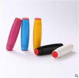 Wholesale Wooden Hand Eye Coordination Toys - 5 Colors Novelty Fidget Rollver Mokuru Desktop Flip Toys Hand-Eye Coordination Concentration Killing Time Toy 9.2*2.6*2.6cm CCA5799 200pcs