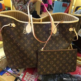 Wholesale Sequin Letters - Fashion Women Bag Shoulder Bags L Brand V Designer Lous Never Full Mono Lockit gram Leather Handbags Vutton Women 6s3 Tote Bags