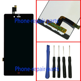 Wholesale Display Zte - Wholesale- Blcak Full LCD Display + Touch Screen Digitizer Glass Assembly For ZTE Nubia Z9 Mini NX511H NX511J + Tools