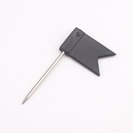 Wholesale Plastic Push - New! Black flag shaped map push pins good for maps, cork board, 200 pcs  lot free shipping