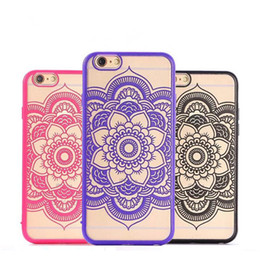 Wholesale Vintage Style Iphone Cases - For iphone6 6splus iphone7plus Vintage Style Mandala Datura Flower phone case Matte Hard Plastic PC Translucent Case Cover For iPhone 5S 4S