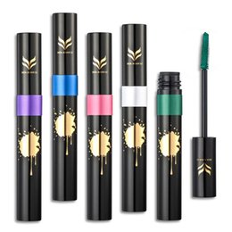 Wholesale Rainbow Lashes - Rainbow Colorful Mascara Professional Eye Lashes Curling Thick Lengthening Dense Waterproof Rainbow Cosmetics Mascara