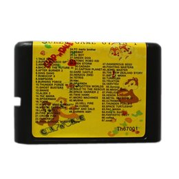 Wholesale Game Cartridges - New Arrival Super Game 67 in 1 16 Bit Game Cart Newest Game Cartridge For Sega Mega Drive   Genesis System