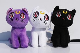 "Wholesale Diana Doll - 17cm 6.7"" Sailor Moon Lunar Artemis Diana Cat plush doll toy Soft Stuffed Plush Toys Gift Decorations"