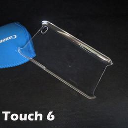 Copertura trasparente di cristallo della parte posteriore della cassa di plastica dura del PC per iPod Touch5 Touch6 Touch 5 6 DHL libera il trasporto da gel diamante fornitori