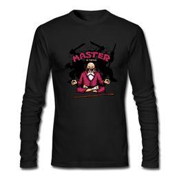 Chaqueta de masters online-Nuevo en la camiseta de algodón para hombres Camiseta de algodón de manga larga Camiseta deportiva de Halloween Maestro de tortugas La calidad de impresión popular es buena