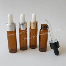 Wholesale Amber Glass Bottles 2oz - 200pcs x15ml Amber Empty Glass Liquid Pipette Bottle 1 2OZ Brown Glass Drop Vials