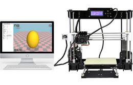 weißer telefonkasten billig Rabatt Neue Upgrade desktop 3D Drucker Prusa i5 Größe 220 * 220 * 240 mm Acryl Rahmen LCD 2.5Kg Filament 16G TF Karte für geschenk (große Hauptplatine) DHL