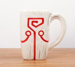 Pendente dota online-DOTA 2 TI4 Accessory Juggernaut Jugg Mask pendant Tazza in ceramica Tazza da caffè per collezione