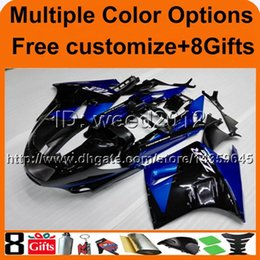 Wholesale 1992 Zx11 - 23colors+8Gifts BLUE motorcycle cowl for Kawasaki ZX11R ZZR1100 90-92 ZZR1100 1990 1991 1992 ABS Plast