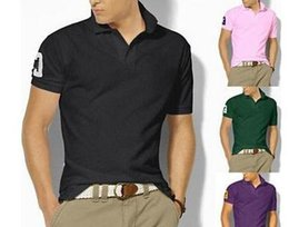 Wholesale Ralph 16 - 16 Big Size S-6XL Polo Shirt Men Big Horse Camisa Solid Short Sleeve Summer Casual Camisas Polo Mens Free Shipping