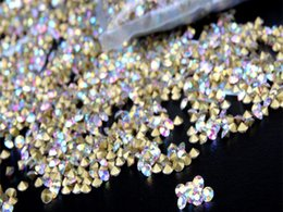 Wholesale Crystal Pointed Back Rhinestones - Wholesale- 1440pcs lot SS3 Point Back Rhinestone Crystal AB Color Point Back Chaton V-Cut Rhinestone