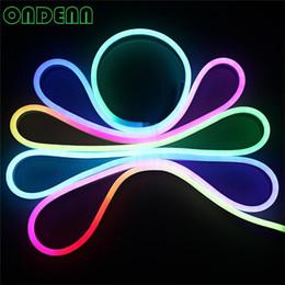 cocktails träume neonschild Rabatt IP68 imprägniern Flex Neonlicht RGB LED mit Neonröhrchen des Steckers, 20m / lot 60led / m LED Flexschlauch Freies Verschiffen DHL UPS