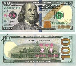 Wholesale Sheet China Wholesale - New Style 100pcs lot USD 100 Dollars 1:1 China Bank Staff Training Banknotes Paper Money Gift