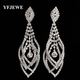 Wholesale Big Unique Earrings - YFJEWE Fashion Pendientes Long Drop Earrings Unique Natural Big Earrings For Women Fine Jewelry Wedding Party Gift Brincos E393