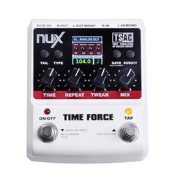 Wholesale Nux Delay - NUX TIME FORCE Guitar Effect Pedal Multi Digital Delay 11 Delay Effects High Quality Guitar Parts & Accessories