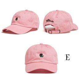 Wholesale Topi For Women - 5pcs Fashion Rose baseball cap Dad hats topi snapback brand hat Sun protection leisure sports hat designer Bboy caps for men women 2017