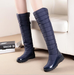 Wholesale Thigh High Boots New Arrivals - 2016 new arrival keep warm snow boots fashion platform fur thigh knee high boots warm winter boots for women shoes boats HJIA1167