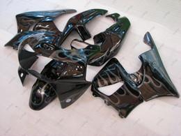 Wholesale Zx9r Body Kit - Bodywork for Honda Cbr919RR 1998 Plastic Fairings CBR900 919 1999 Black Silvery Flame Body Kits CBR919RR 99 1998 - 1999