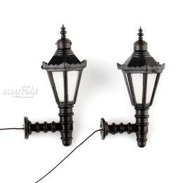 Wholesale Model Lamppost - Wholesale- 10pcs O Scale 1:50 3V Train Railway Park Led Lamppost Lamps Up Wall Lights Model