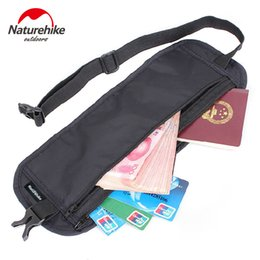 Wholesale Football Wallets - Wholesale- Brand NatureHike outdoor travel deluxe multi-packet wallet invisible Waist Bag Belt light thin mobile phone thefth stealt wallet