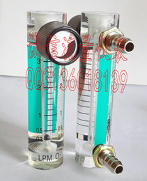 Wholesale Oxygen Products - Wholesale- Can be customized products! LZM-6T oxygen oxygen flowmeter 0.3-3L min small round flowmeter