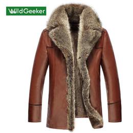 2019 bandiera scamosciata Wholesale- Wildgeeker cappotto invernale da uomo 2017 nero solido lana casual all'interno giacca monopetto invernale in pelle sintetica monopetto