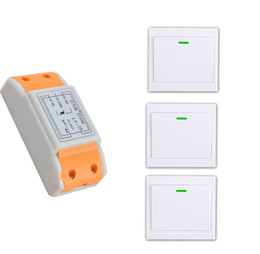 Wholesale Ch Switches - Wholesale- 2016 products 220 v 1 ch RF wireless remote control switch 1 receiver+3 transmitter remote control With a paste